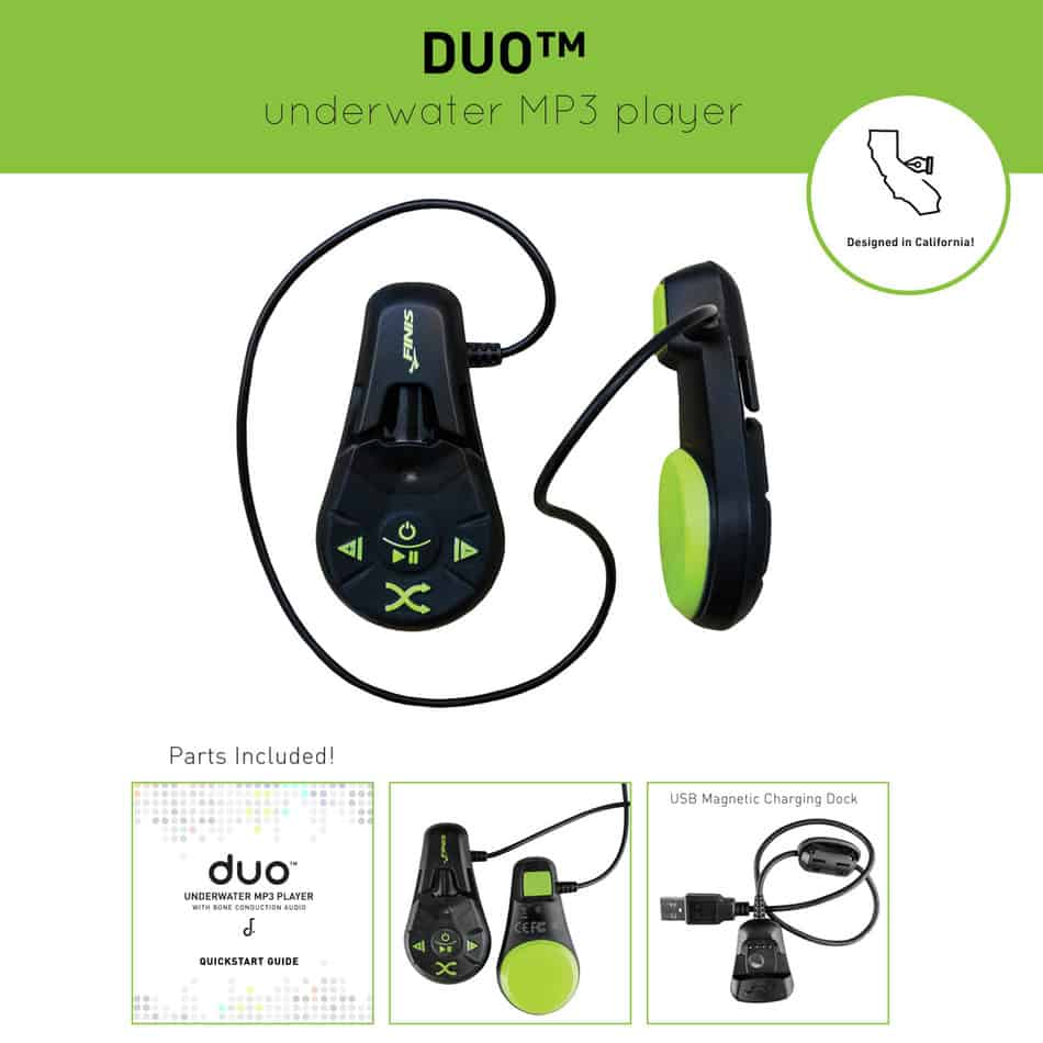 Finis Duo Waterproof headphones